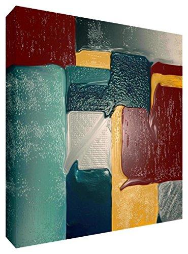 Kurtzy Art Easel Set 1 Canvas 1 Mixing Palette 4 Paint Brushes