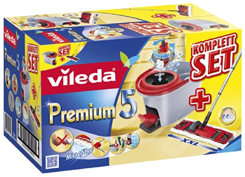vileda-premium-146585-complete-floor-cleaning-set-5-pieces-including-spin-mop