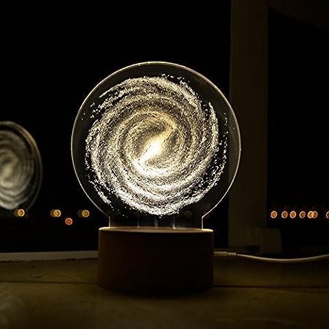 Hölzerne einfache 3D Nacht Licht Stars der original Lampe jungen