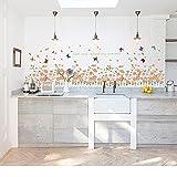 Rureng Fleur De Papillon Escrime Plinthe Ligne Romantique Salon Confortable Peut Enlever Les Autocollants Muraux Collants...