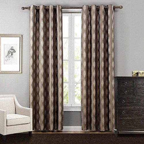 YYH Tende oscuranti per camera da letto poliestere Jacquard vetrata scorrevole tende 2 pannelli semilavorati , 140x160cm