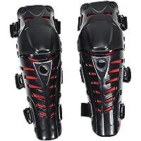 LianLe Lot de 2/genouill/ères de protection pour homme r/ésistantes aux chocs Id/éal pour prot/éger la peau et les articulations Noir//rouge rouge