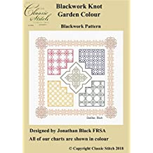 Blackwork Knot Garden Coloured Blackwork Pattern