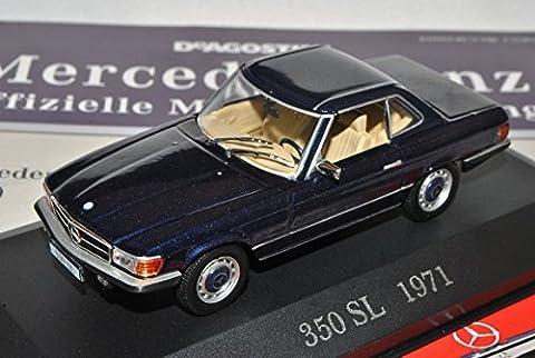 Mercedes-Benz SL-Klasse 350SL Coupe Blau R107 1971-1989 Inkl Zeitschrift Nr 10 1/43 Ixo Modell Auto