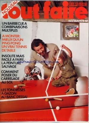 TOUT FAIRE DANS SA MAISON [No 17] du 01/05/1978