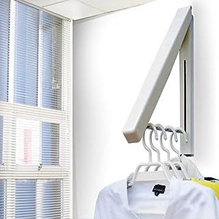 Advogue Unsichtbare Kleiderhaken Klappbar Wand-Kleiderständer Mounted Gestell Airer platzsparend Wand- Garderobe
