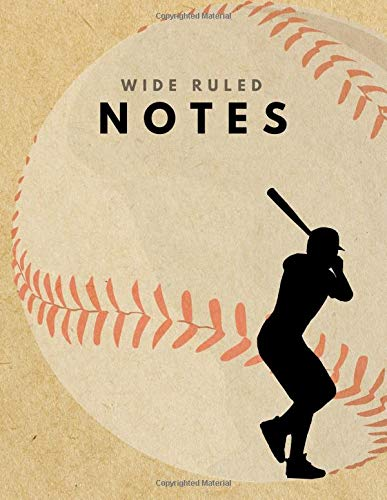 Wide Ruled Notes: Baseball Brown Paper Soft Cover | Large (8.5 x 11 inches) Letter Size | 120 pages | Lined Retro Notebook (no margins) por big word notebooks