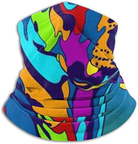 N/a scaldacollo multifunzione in pile - tubo reversibile - maschera leggera antivento antipolvere, cane rhodesian ridgeback multicolore, taglia unica