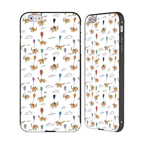 Ufficiale Kitten Rain Piccolo Gatti Nero Cover Contorno con Bumper in Alluminio per Apple iPhone 6 Plus / 6s Plus Palloncino
