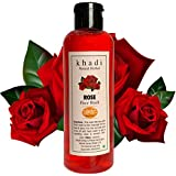 Khadi Natural Herbal Rose Face Wash 200ml || Naturally Fragrant || Deep Cleanser || Radiance and Glow to Face || Refreshing and Rejuvenating || Cleans pores and softens skin ||