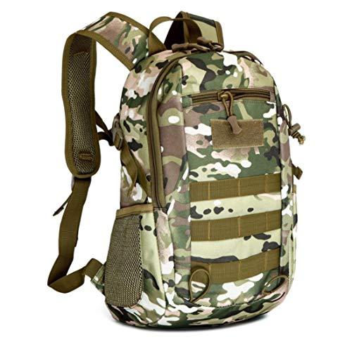 BMY 15L Militärische Taktische Rucksack Outdoor Trekking Rucksack wasserdichte Umhängetasche Combat Pack für Reisen Wandern Jagdschule, Camouflage -