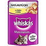 Whiskas Naturstücke Katzenfutter saftigen ganzen Fleischstücken mit Huhn, 28 Beutel (28 x 85 g)
