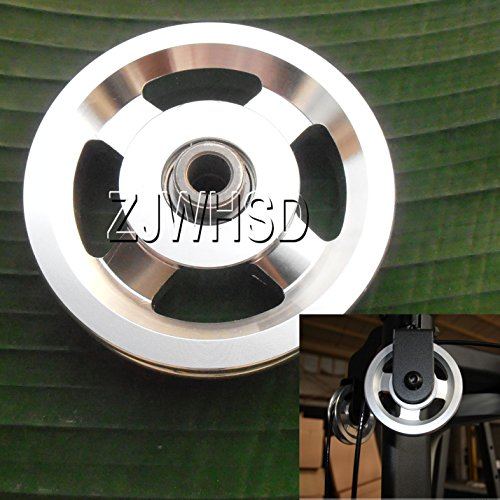 Universal 93mm aluminio rodamientos rueda polea