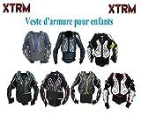 Motos Enfants Armure XTRM Enfant Corps Armor Vest Nouveau Motocross Quad MX Courses Hors-Piste Professionnel de Protection ATV Sport CE approuver Armure - Blanc/Rouge - 14 années / 2XL