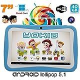 Tablette tactile enfant YOKID quad core 7 pouces Android 5.1 Bleu 40Go