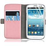 JAMMYLIZARD | Luxuriöse Ledertasche für [ Samsung Galaxy S3 / S3 Neo ] Flip Cover Hülle, PFIRSICHROSA