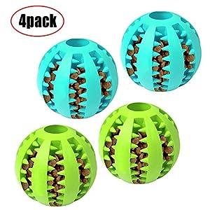 ACLBB Balle de Jeu pour Chien Jouet Caoutchouc Naturel pour Chien en Caoutchouc Robuste Balle de Jeu pour Chien, Jouet à mâcher, pour Grand Petit Chien 4pack