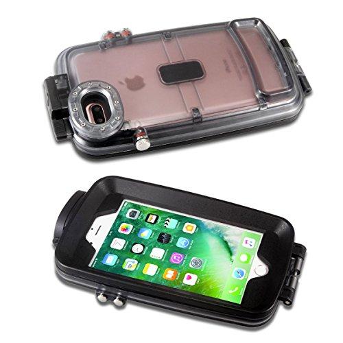 Alienwork Custodia per iPhone 6 Plus/6s Plus sottacqua Cover Case Bumper impermeabile Antipolvere Anti-neige Plastica nero AP6P27-01 nero