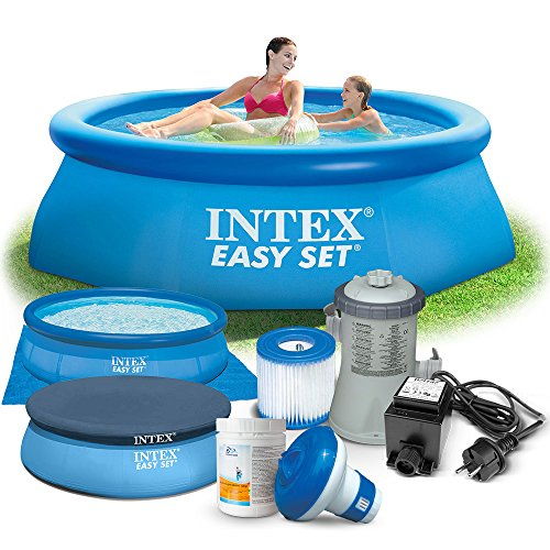 Global 7in1 Set Gartenpool 244 x 76 cm Quick Up Pool mit Zubehör INTEX 28110