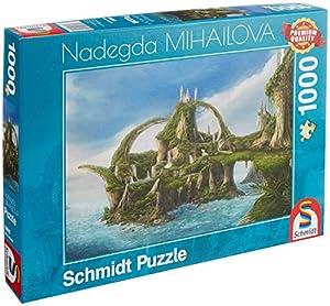 Schmidt Spiele Puzzle 59610nadegda mihailova, Isla de Agua Casos, Puzzle de 1000Piezas