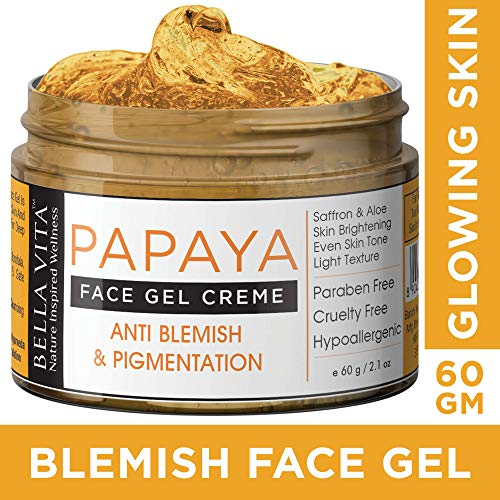 Bella Vita Organic Anti Blemish and Pigmentation Face Cream Gel with Papaya and Saffron (50g)