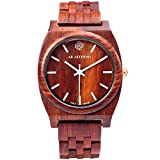 AB Aeterno Horizon Dusk Red Sandalwood 38mm Unisex Quartz Watch DUS_WHI