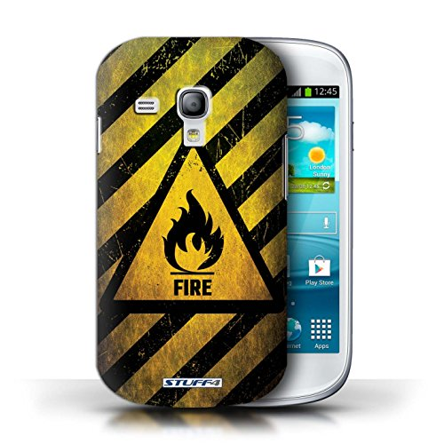 Coque de Stuff4 / Coque pour Samsung Galaxy S3 Mini / Radiation Design / Signes de Danger Collection Feu/Inflammable