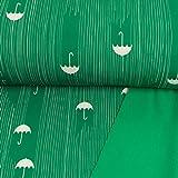 Softshell Stoff Regenschirme grün 100% Wasserdicht - Preis