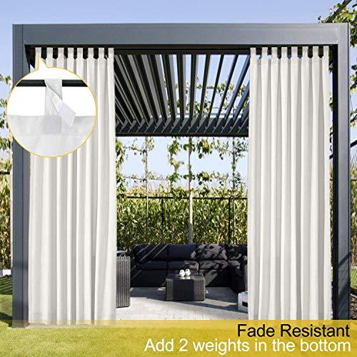 Wasserdicht Terrasse Vorhänge Weiß 213B x 213H