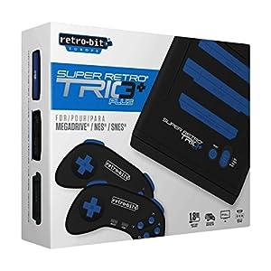 Retro Bit Super Retro Trio Plus HD Royal Blue PAL Version