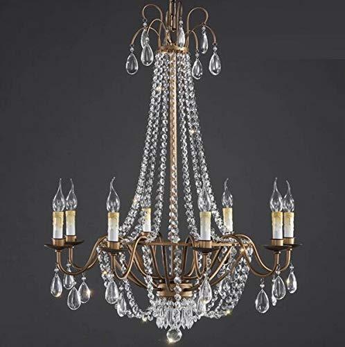 MEIDENG 6/8 leuchtet im amerikanischen Stil Retro rustikal Eisen esszimmer Wohnzimmer anhänger Kristall kronleuchter bar Lampe,8lights -