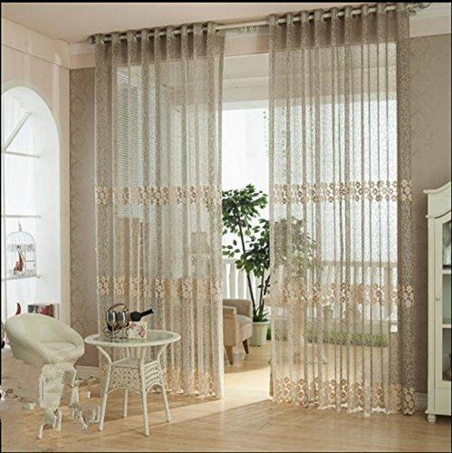ge Premium Transparent Jacquard Bestickte Kaffee Hollow Wohnzimmer / drapieren / Tafeln / Behandlung Größe 40inch * 110inch ()