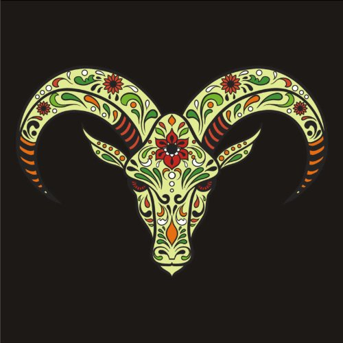 V-T-Shirt - Savvy Skull 03 - Totenkopf - Sugar Skull - Damen Schwarz
