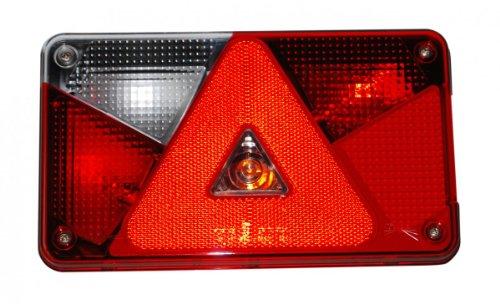 Aspöck Mehrfunktionsleuchte Multipoint V, links - 102.42.31- verkabelt und montierten Glühbirnen - - Montierten 42