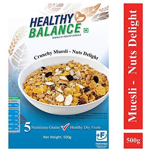 Healthy Balance Crunchy Muesli - Nuts Delight 500gm