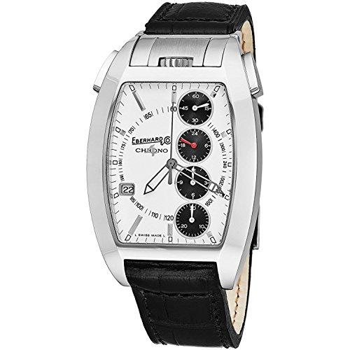 Eberhard & Co Homme Bracelet Cuir Crocodile Noir Automatique Montre 31047.8