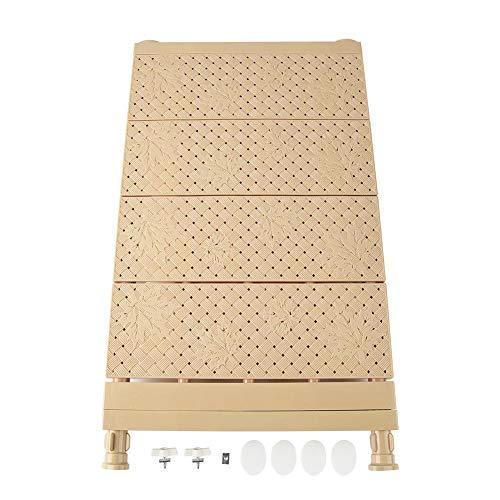 FTVOGUE Scomparto Regolabile Ripiano separatore Scomparto per Cucina Armadio Frigorifero Compartimento Scaffali libreria Raccolta(33-53cm-Brown)