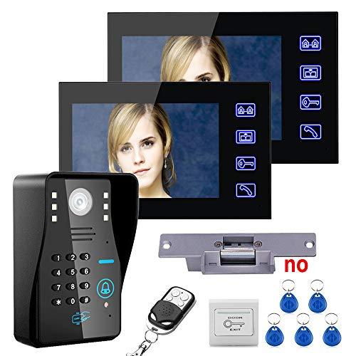 COL PETTI Video-Türklingel, Intelligente Visuelle Cat-Eye-Überwachungskamera Mit Ultra-Schlankem Design, 7-Zoll-HD-Türklingel, Geeignet Für Familienhäuser