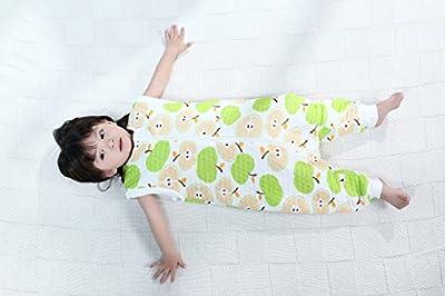 Bebé Saco de dormir Con Cremallera Piernas Separadas Mangas Extraíbles 1.5 Tog
