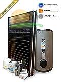 Kit installation solaire thermique haute performance pour production eau chaude sanitaire, 2-4personnes, bouilloire 300litres, fkf200...