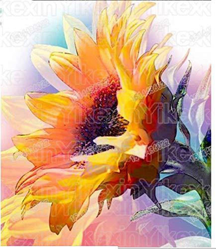 XUESHUANGLI 5D DIY Diamant Malerei Sunflower Bohren Voll Rundes Bild Von Strass Diamant Stickerei Halloween Handmade Decor 30 * 40 cm