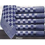 Paños, bayetas, Tea Towel, 70* 70cm, azul y blanco a cuadros (12unidades)