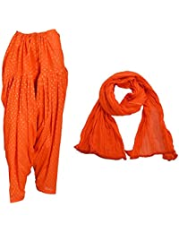 Priyaas Women's Cotton Readymade Best Indian ''SEMI'' Patiala Salwar With Dupatta Set Combo