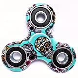 WOBBOX Fidget Spinner High Speed 1-3 Min Smooth Spin with Lowest Sound and Light Weight Camouflage (Skull Green)