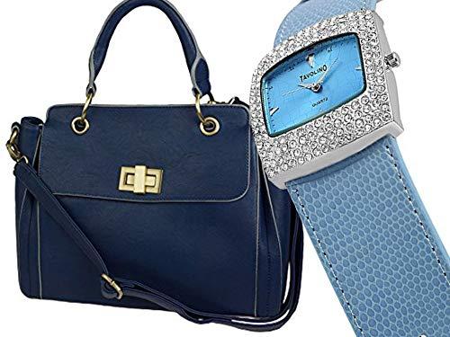 Damen Henkel-Tasche, Umhängetasche, zusammen mit Armband- Damen- Uhr, schönes Geschenk-Set- Designer-Tasche von Kaytie Wu