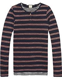 Scotch & Soda Two-In-One Lurex Stripe, T-Shirt Fille