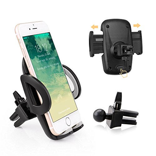 Price comparison product image Avolare® Phone Holder Car Air Vent Holder Phone Cradle Adjustable Universal Car Cradle 360 Degree Holder Compatible with iPhone 7 7Plus SE 6s 6 Plus 5s 5 4s 4, Samsung Galaxy S7 S6 S6 Motorola and More