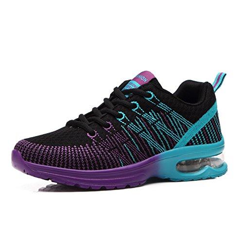 Largeshop Air Laufschuhe mit Luftpolster Sportschuhe Turnschuhe Bunt Outdoor Running Sneaker Trainer Herren Damen