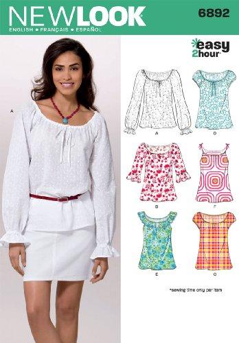 new-look-nl6892-patron-de-couture-t-shirt-top-22-x-15-cm