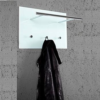 praktische wandgardeobe azzaretti garderobe mit haken handtuchhalter aus glas und chrom amazon. Black Bedroom Furniture Sets. Home Design Ideas